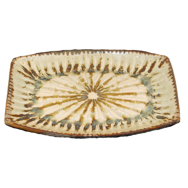Good Earth Sparrow Medium Rectangle Platter - TheMississippiGiftCompany.com