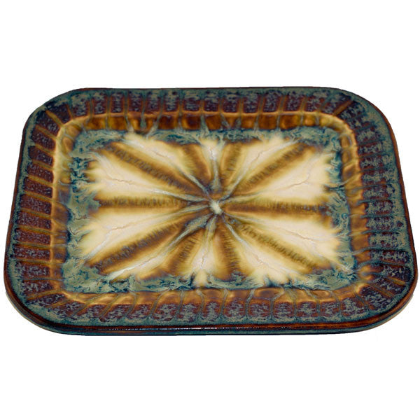 Good Earth Bluebird Medium Rectangle Plate - TheMississippiGiftCompany.com