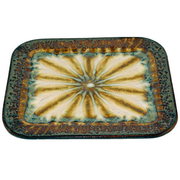 Bluebird Large Rectangle Plate - TheMississippiGiftCompany.com