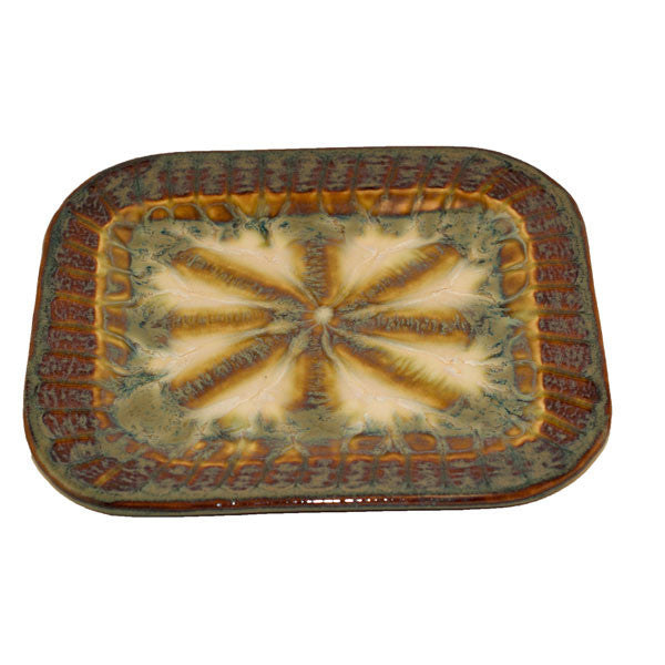 Bluebird Small Rectangle Plate - TheMississippiGiftCompany.com