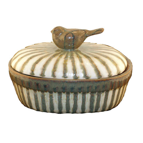 Good Earth Sparrow Large Casserole - TheMississippiGiftCompany.com