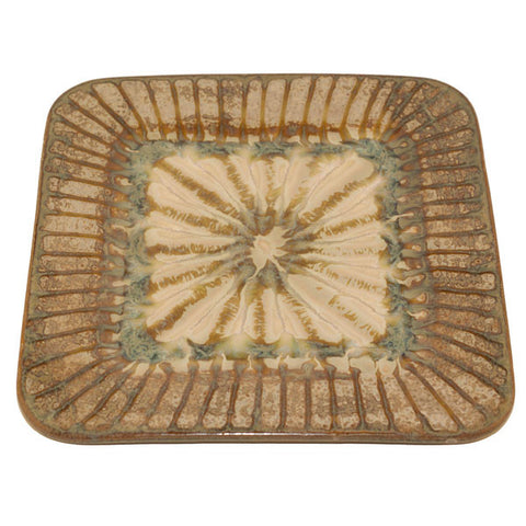 Good Earth Sparrow Large Square Plate - TheMississippiGiftCompany.com