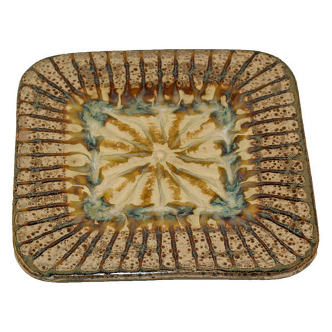 Good Earth Sparrow Medium Square Plate - TheMississippiGiftCompany.com
