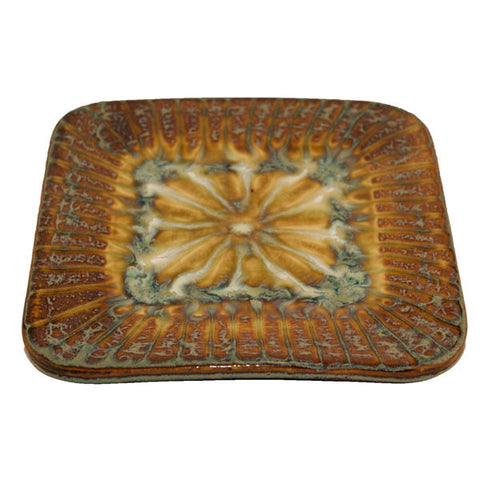 Bluebird Medium Square Plate - TheMississippiGiftCompany.com