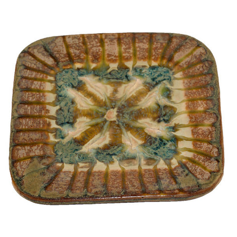 Good Earth Sparrow Small Square Plate - TheMississippiGiftCompany.com