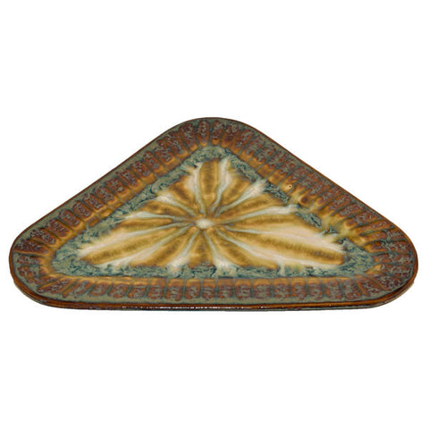 Bluebird Large Triangle Plate - TheMississippiGiftCompany.com