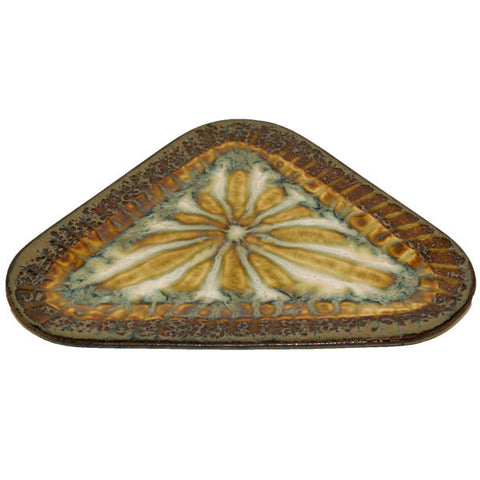 Bluebird Medium Triangle Plate - TheMississippiGiftCompany.com