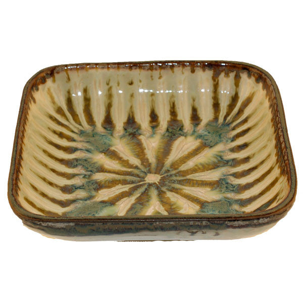 Good Earth Sparrow Small Square Serving Bowl - TheMississippiGiftCompany.com
