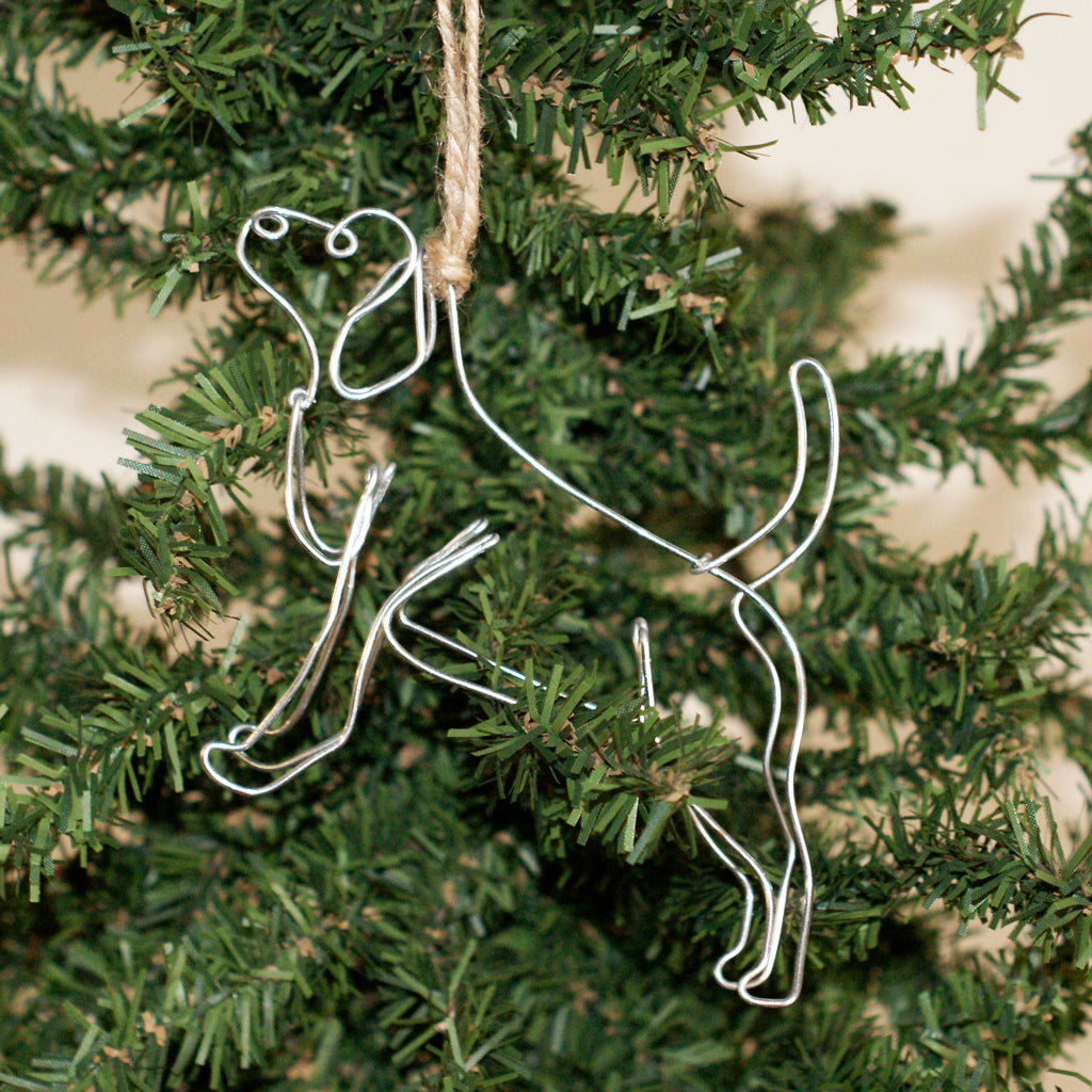 Wire Customized Dog Ornament - TheMississippiGiftCompany.com