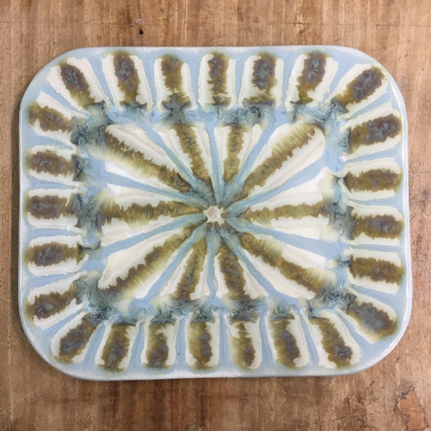 Teal Medium Rectangle Plate - TheMississippiGiftCompany.com