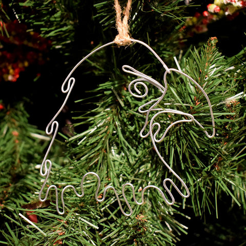Golden Eagle Wire Ornament