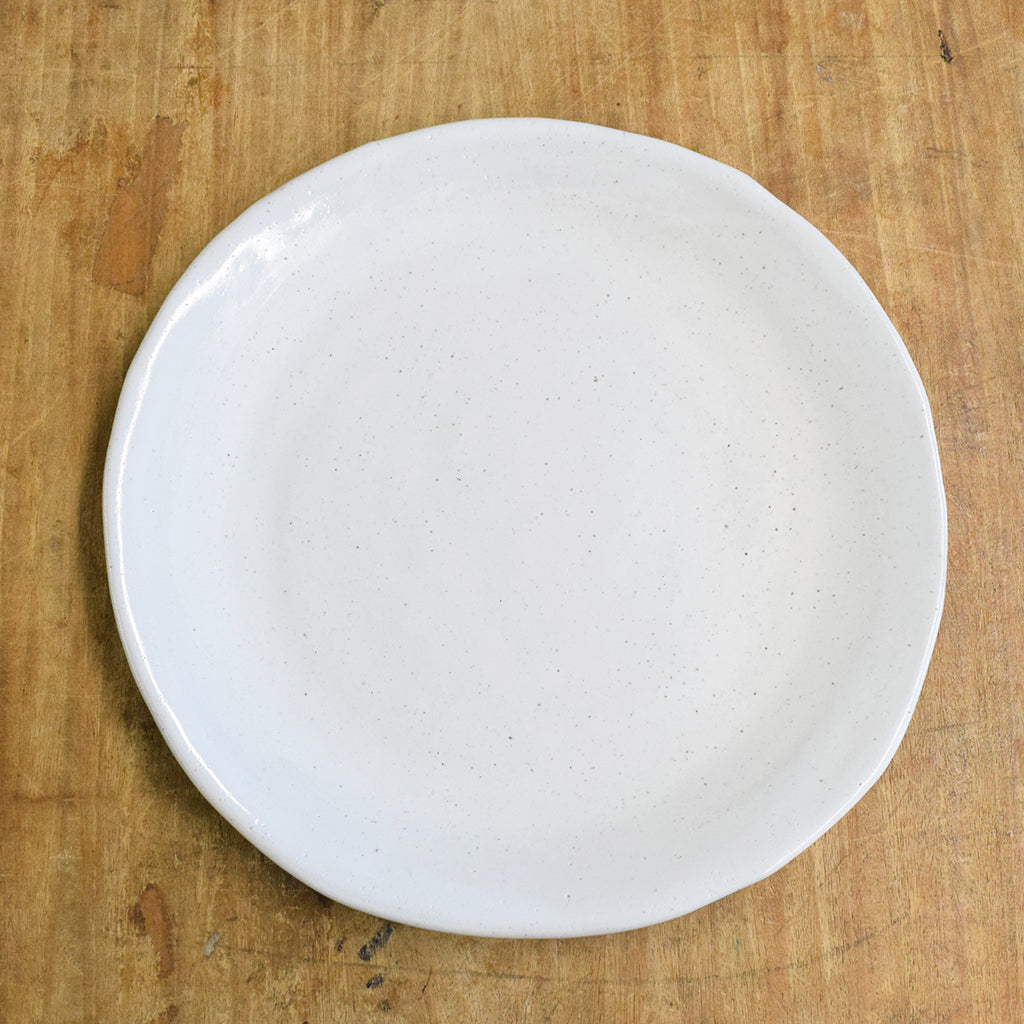 Farmhouse Simply White Round Dinner Plate