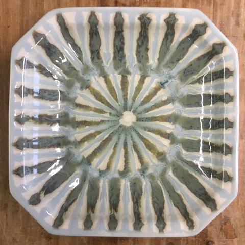 Teal Large Octagonal Bowl - TheMississippiGiftCompany.com
