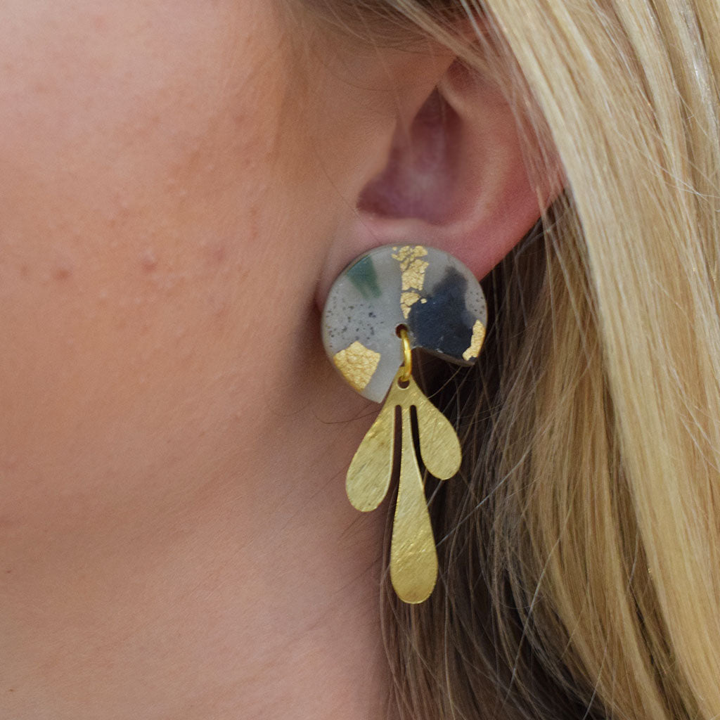 Gertrude Small Black Mix Earrings