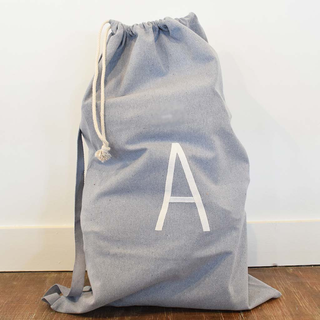Initial Laundry Bag - TheMississippiGiftCompany.com