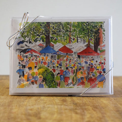 The Grove Hand Painted Note Card - TheMississippiGiftCompany.com