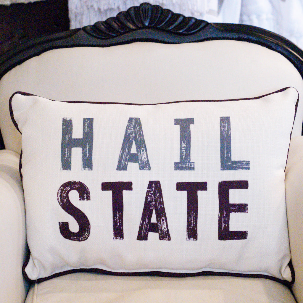 Hail State Rectangle Pillow - TheMississippiGiftCompany.com