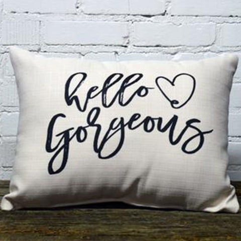 Hello Gorgeous Rectangle Pillow