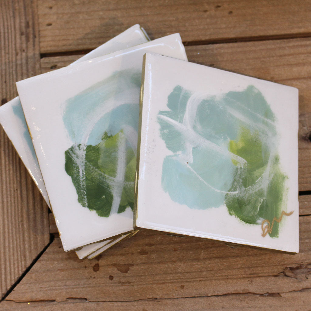 Haley Farris Abstract Coaster Set