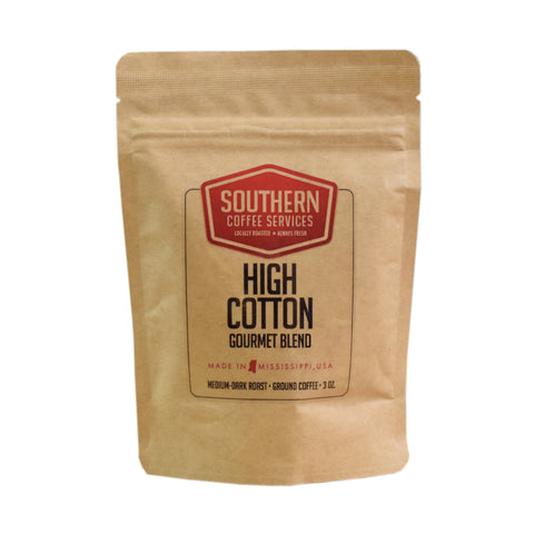 High Cotton Gourmet Blend Coffee 3oz - TheMississippiGiftCompany.com