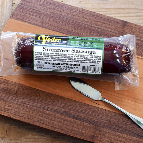 Jalapeno and Pepper Cheese Summer Sausage - TheMississippiGiftCompany.com