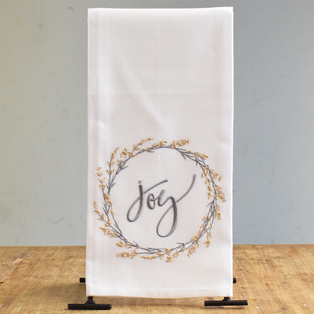 Joy Wreath Kitchen Towel