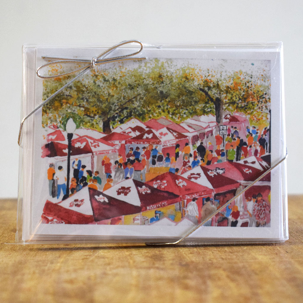 The Junction Hand Painted Note Card - TheMississippiGiftCompany.com