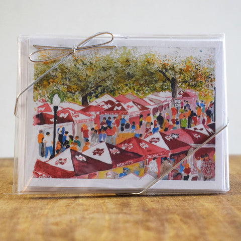 The Junction Hand Painted Note Card
