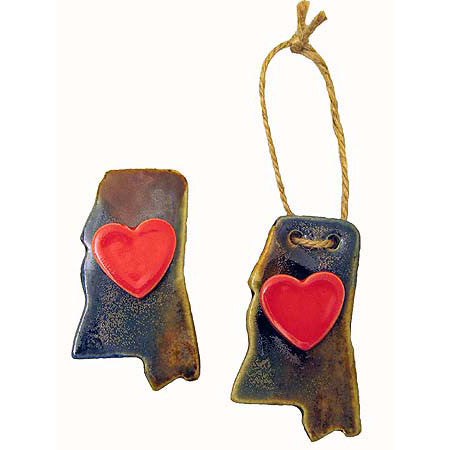 My Hearts in Mississippi Ornament or Magnet - TheMississippiGiftCompany.com