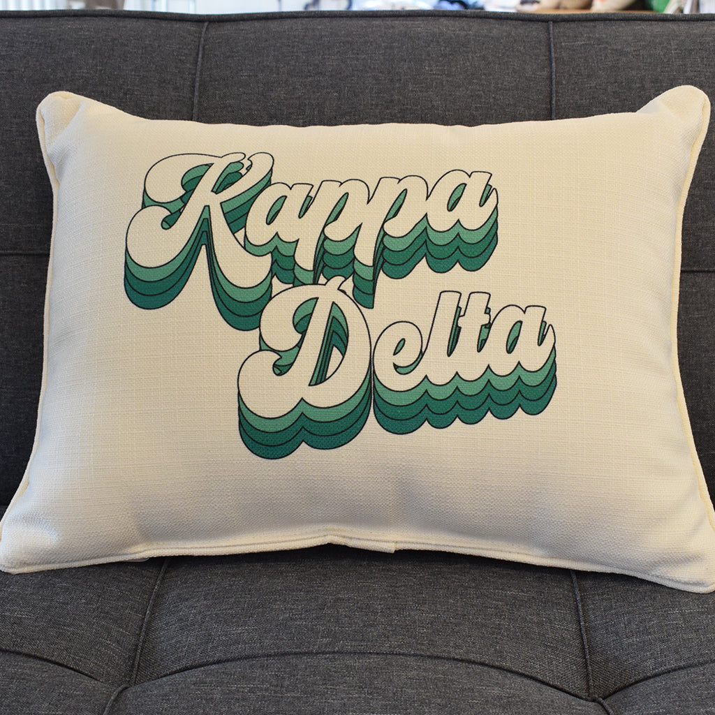 Kappa Delta Groovy Rectangle Pillow