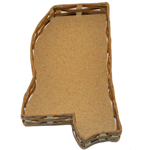 Unfilled Mississippi Shaped Basket Large - TheMississippiGiftCompany.com