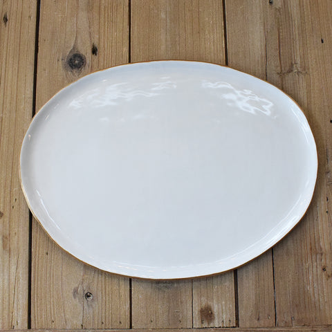 A Shelby Pottery Large Oval Platter - TheMississippiGiftCompany.com