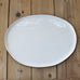 Gold and White Large Oval Platter - TheMississippiGiftCompany.com