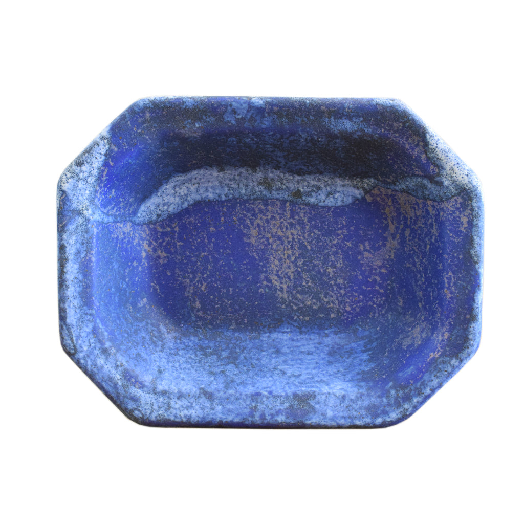 Large Rectangle Bowl Blue - TheMississippiGiftCompany.com