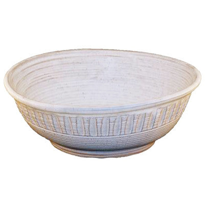 Large Potato Chip Bowl White - TheMississippiGiftCompany.com