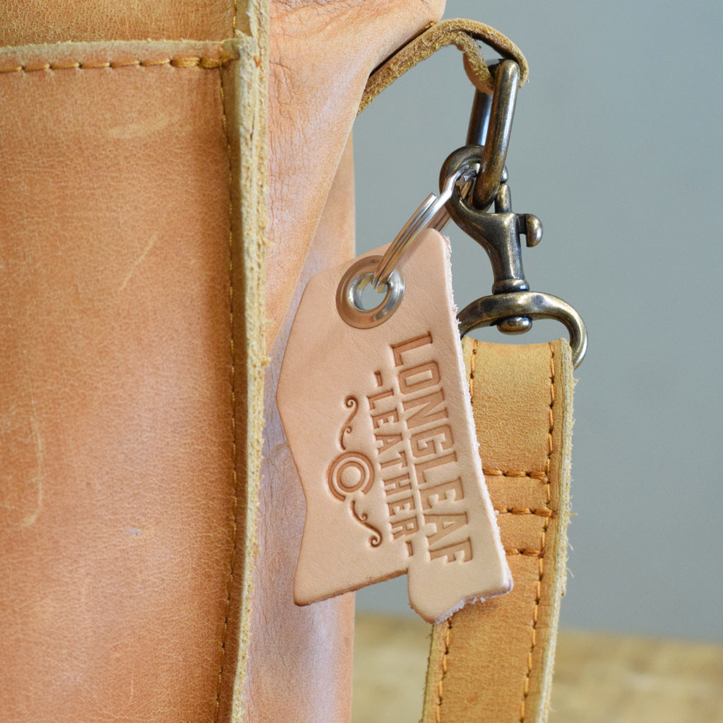 Leather Mississippi Keychain
