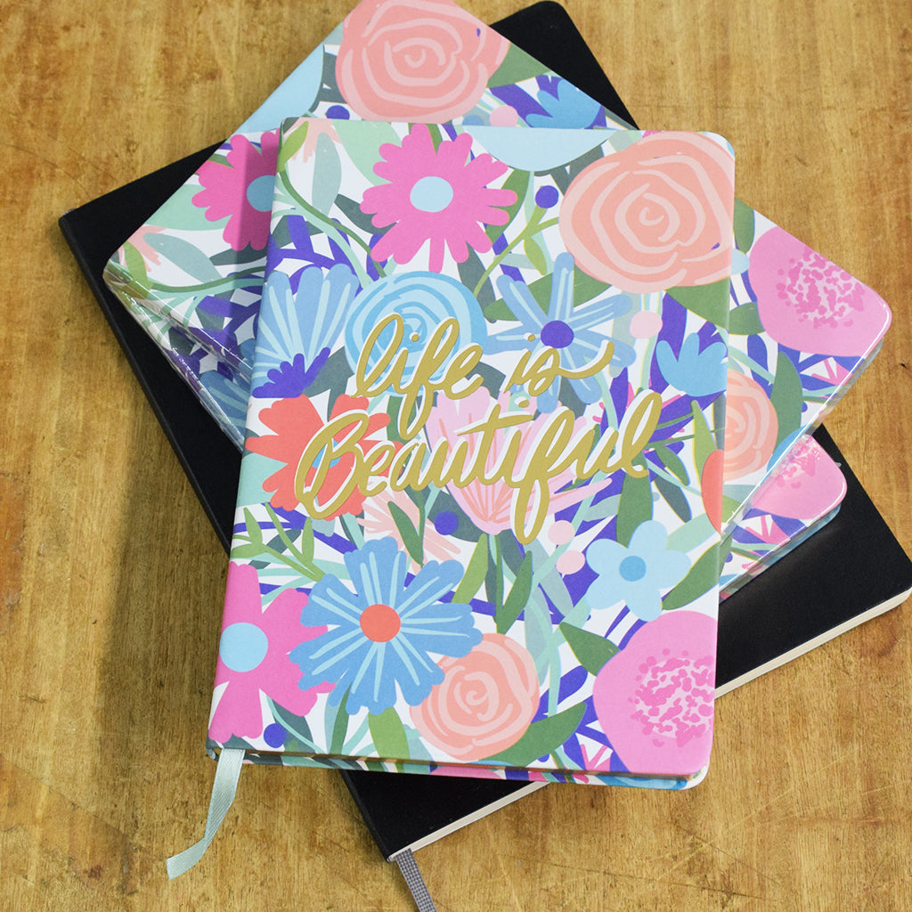 Life is Beautiful Floral Journal - TheMississippiGiftCompany.com