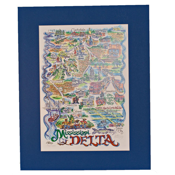 http://WWW.THEMISSISSIPPIGIFTCOMPANY.COM/Linda-Theobald-Mississippi-Delta-Print.aspx