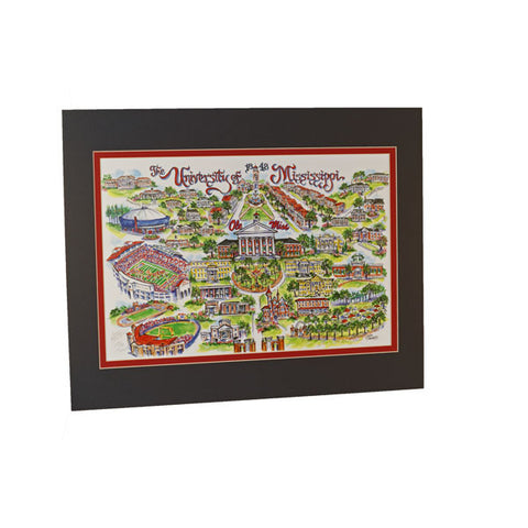 University of Mississippi Print - TheMississippiGiftCompany.com