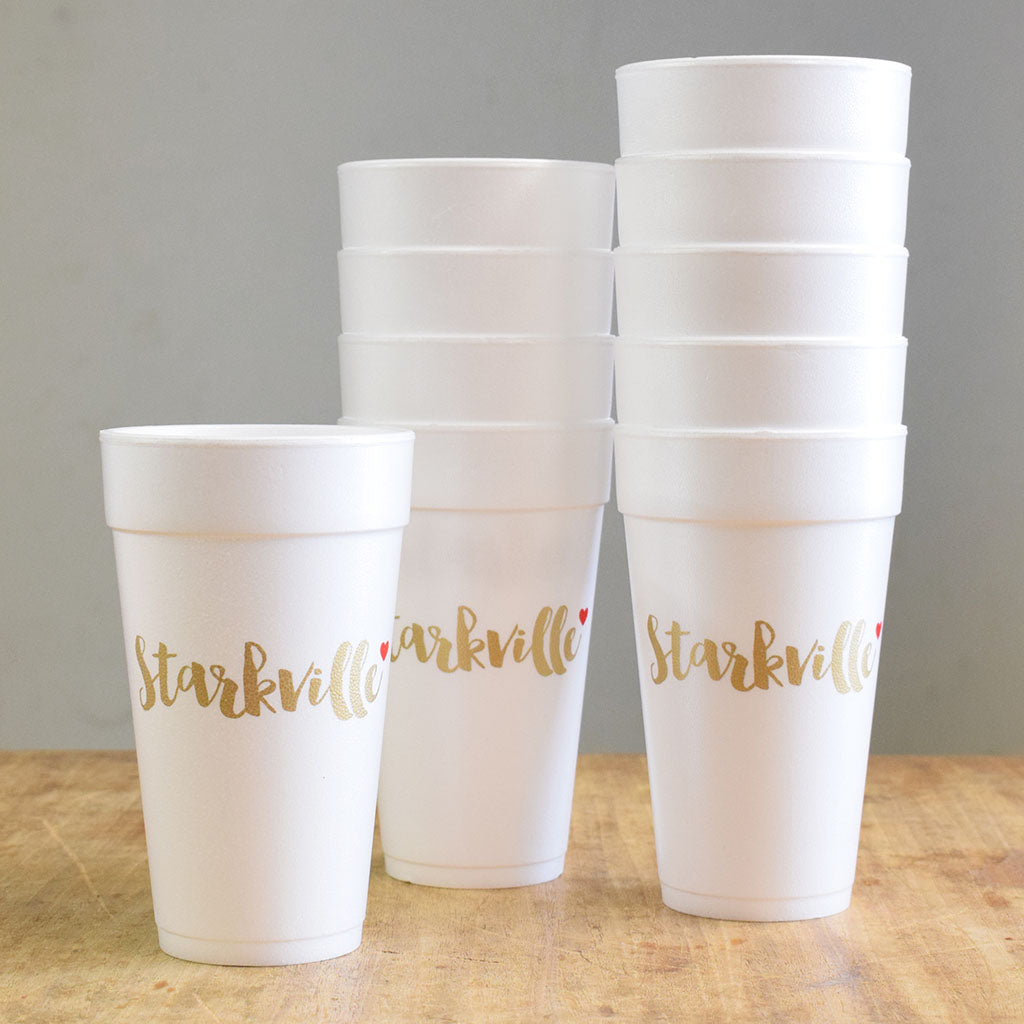 Love Starkville Foam Cups - TheMississippiGiftCompany.com