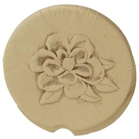 Magnolia Design Car Coaster - TheMississippiGiftCompany.com