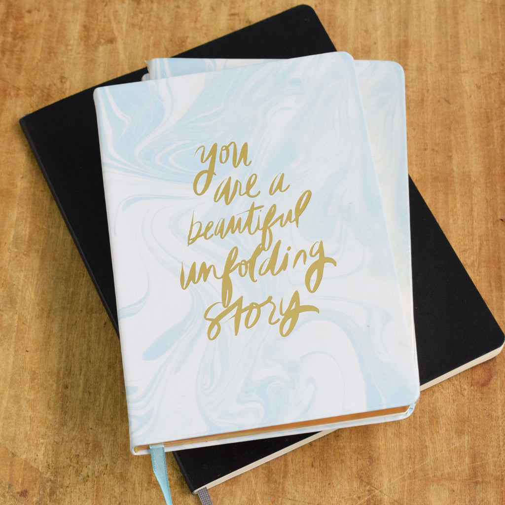You are a Beautiful Unfolding Story Prayer and Purpose Journal - TheMississippiGiftCompany.com