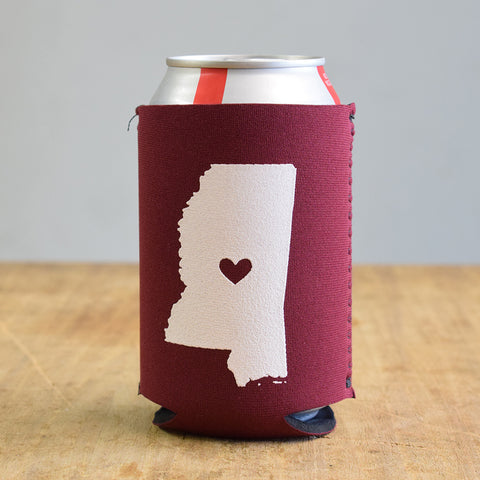 MSU Heart Coolie - TheMississippiGiftCompany.com