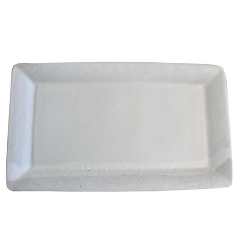 Meat Tray - White - TheMississippiGiftCompany.com
