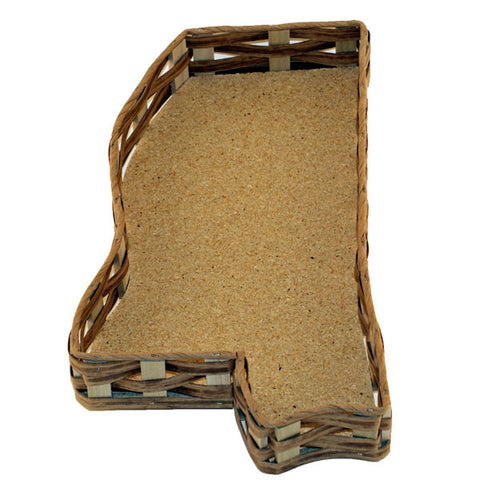 Unfilled Mississippi Shaped Basket Medium - TheMississippiGiftCompany.com