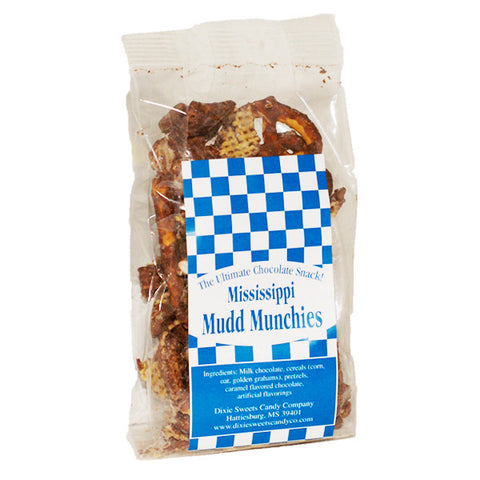 Mississippi Mudd Munchies: Milk Chocolate Snack Mix- 1.5oz - TheMississippiGiftCompany.com