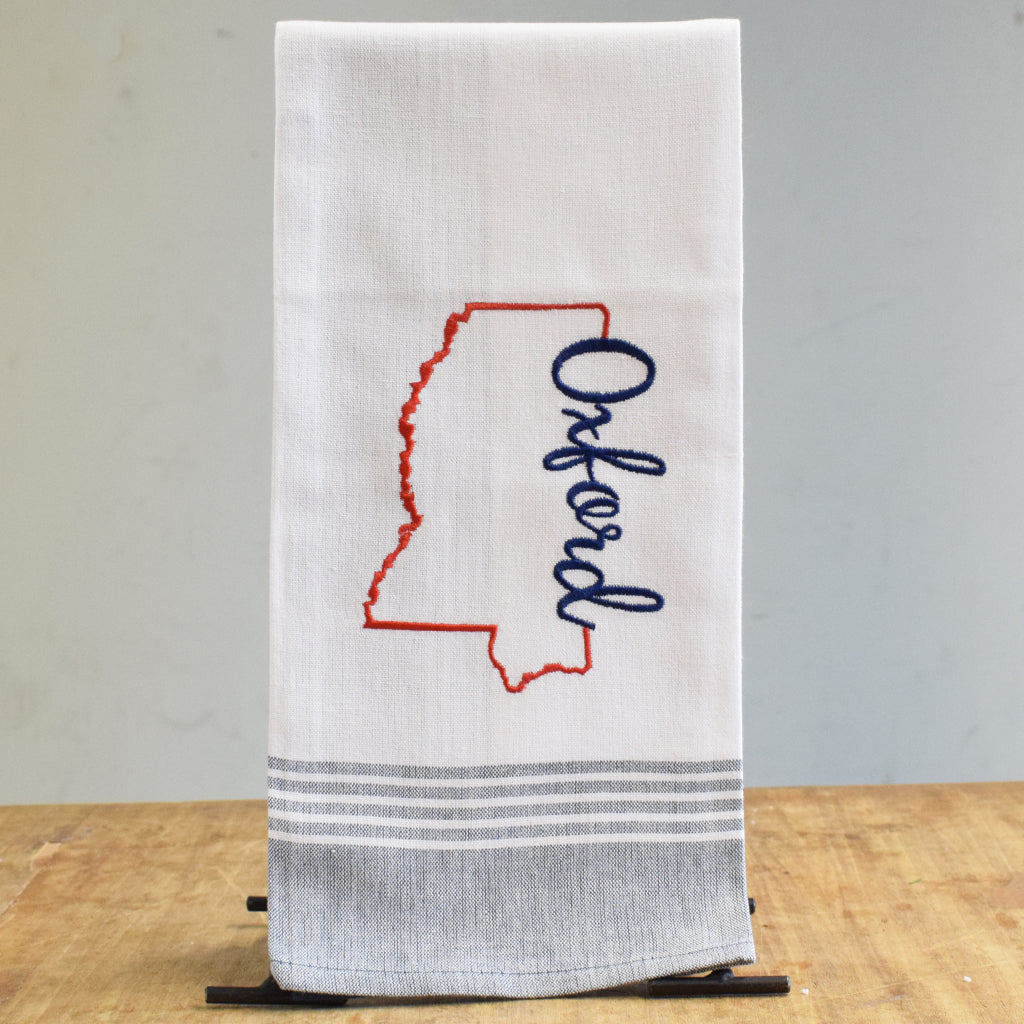 Oxford Mississippi Embroidered Hand Towel