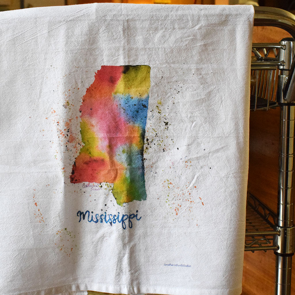 Mississippi Flour Sack Kitchen Towel - TheMississippiGiftCompany.com