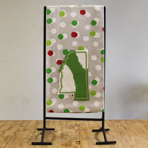 Mississippi Christmas Dots Kitchen Towel