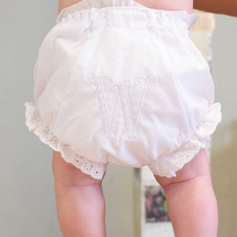 Initial Ruffled Bloomers - TheMississippiGiftCompany.com